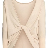 Ribbed top - Light beige - Ladies | H&M GB