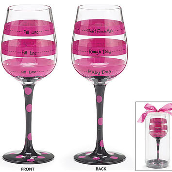 Wine Glass with Fill Lines