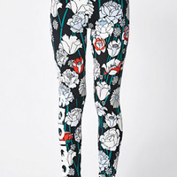 adidas Linear Floral Print Leggings at PacSun.com