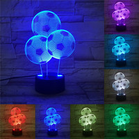 Artistic 3D LED Illusion Bulbing Table Desk Light Lamp Night 7 Color Change Home Decor