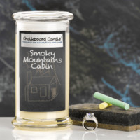 Smoky Mountains Cabin Chalkboard Jewelry Candle