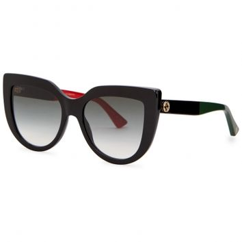 Gucci Black cat-eye sunglasses