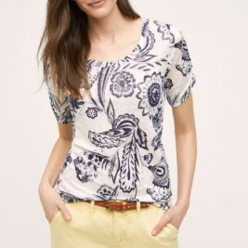 Meadow Rue Martigny Tee in Navy Size: