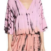 Surf Gypsy Tie Dye Surplice Cover-Up Romper | Nordstrom