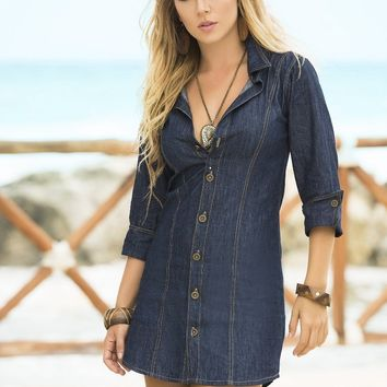 Denim Beach Cover Up