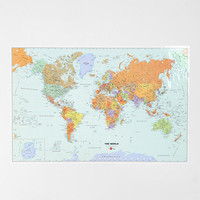 Dry Erase World Map