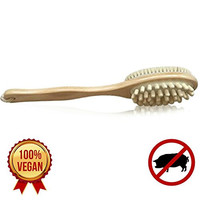 Best Body Brush for Dry Brushing, Cellulite and Skin. 100% Natural, Cruelty-Free Vegan Cactus Sisal Bristles. Spa Quality Detox Brushing.