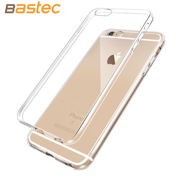 Bastec 0.3mm Ultra Thin HD Clear Crystal Soft TPU Silicone Phone Clear Case for iPhone 6 6S Plus 5 5s SE