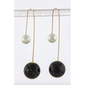 Double-Sided Dangle Earrings (Midnight)