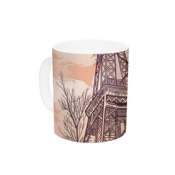 "Sam Posnick ""Eiffel Tower"" Ceramic Coffee Mug"