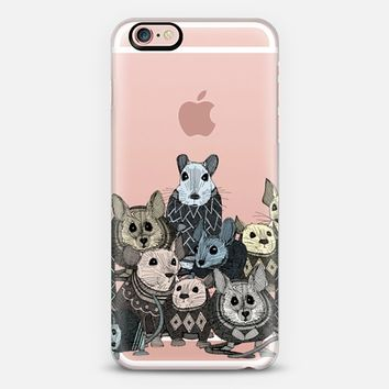 retro sweater mice transparent iPhone 6s case by Sharon Turner   Casetify