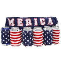 MERICA - 6 PACK BEER BELT