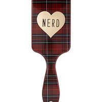 FOREVER 21 Plaid Nerd Paddle Brush