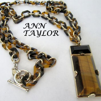 Ann Taylor Necklace Long with Pendant