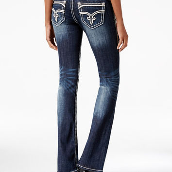 Rock Revival Dee Bootcut Dark Blue Wash Jeans, Only at Macy's