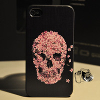 Cool Sakura Skull Hard Cover Case For Iphone 4/4s/5