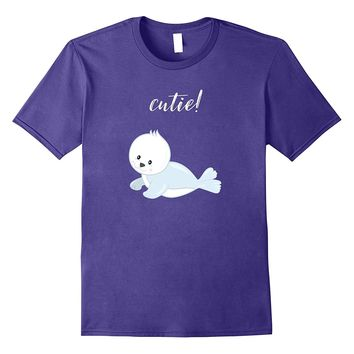 Cute Baby Seal Animal Shirt For Kids- Youth- and Adult