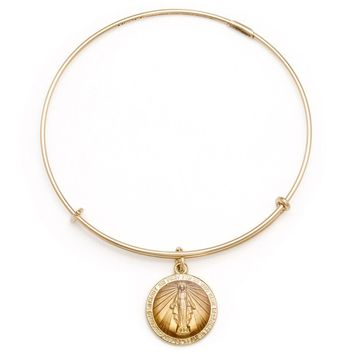 Alex and Ani Miraculous Medal Charm Bangle - 14kt Gold Filled