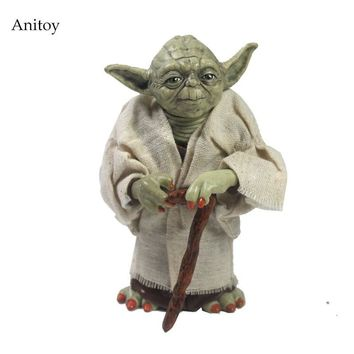 Star Wars Force Episode 1 2 3 4 5  Jedi Knight Master Yoda PVC Action Figure Collectible Model Toy Doll Gift 12cm KT2029 AT_72_6