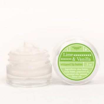 SALE - Whipped Lip Butter - Lime & Vanilla - Natural Icing for Your Lips