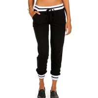 Sale-black And White Jogger Pants