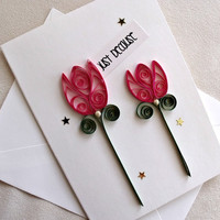 handmade paper quilled all occasion or friendship greeting card – just because