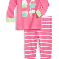 Infant Girl's Little Me 'Cupcakes' Two-Piece Pajamas