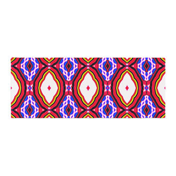 "Dawid Roc ""Inspired By Psychedelic Art 2""  Red Abstract Bed Runner"