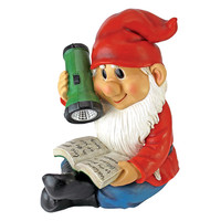 Park Avenue Collection Flashlight Freddie Solar Gnome Statue