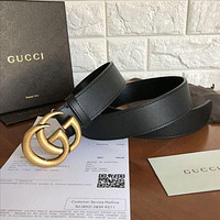 GUCCI  Belt Stylish Women Simple Smooth Buckle Leather Belt