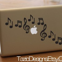 Sheet Music Decal  music notes apple macbook pro by TazioDesigns