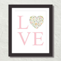 Love Typography Art No. 4 Canvas Art Prints