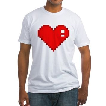Eight Bit Love Fitted T-Shirt