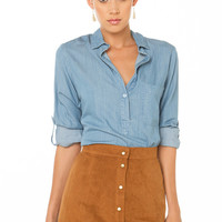 Up Down Suede Skirt - Camel