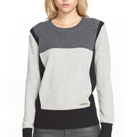 Women's Burberry Brit Colorblock Cashmere Sweater,