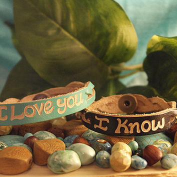 Personalized Leather Bracelet - Couples gift - Matching Couple Bracelet - His and Her couples Bracelets - SKU1005