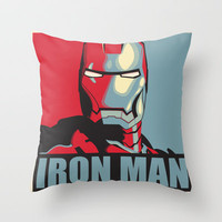Iron Man Hope Poster Accurate Throw Pillow by Jahue