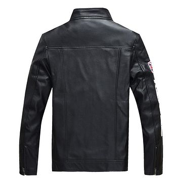 Letter Military Leather Jackets New Arrive Autumn Winter Pu Jacket Motorcycle Coat Male