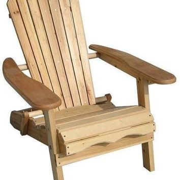 Adirondack Chairs Wood Deck Outdoor Patio Seat Garden Foldable Ergonomic Lawn
