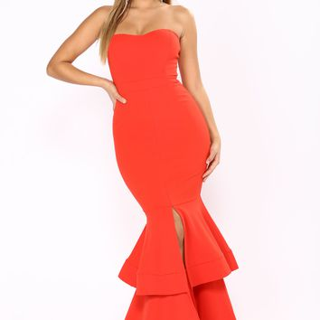 Can't Leave Me Alone Dress - Red