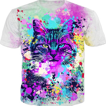 Wild Paint Splash Kitten - Men, Women And Kids T-Shirts And Sweatshirts And Hoodie
