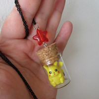 Pokémon Necklace - PIKACHU in a Bottle - EXTRA GOODIES!