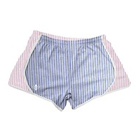 Navy and Pink Seersucker Shorts by Lily Grace - FINAL SALE