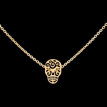 Trendy Sugar Skull Necklace