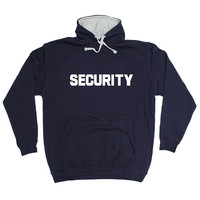 123t USA Security ... Chest & Back Work Hoodie