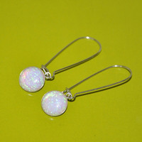 Australian Opal sterling silver earrings. Dangling earrings long.  Sterling silver fashion jewelry woman
