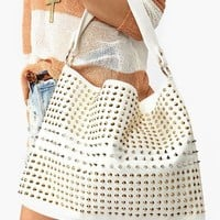 Totally Studded Bag - White in  What's New at Nasty Gal