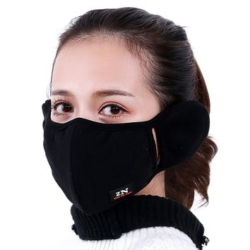 Brave Tour Warmer Mask Anti Dust Anti-fog Windproof Earmuff Mouth-muffle Safety Particle Respirator Filters Bacteria Protection(black)