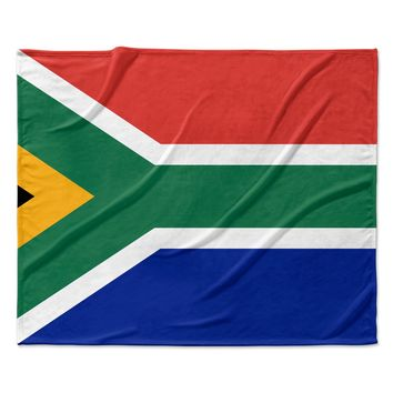 "Bruce Stanfield ""South Africa II"" Green Blue Fleece Throw Blanket"