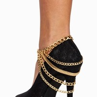 Layered Drape Chains Anklet